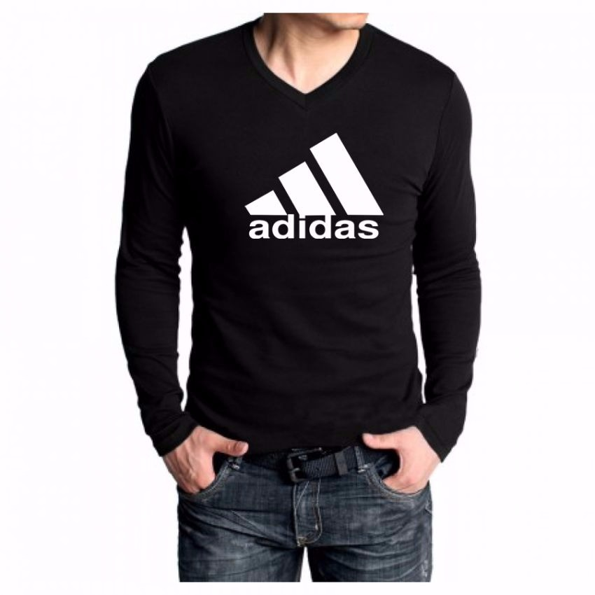 Adidas full sleeves t shirt for men black online for Full sleeves t shirts for men