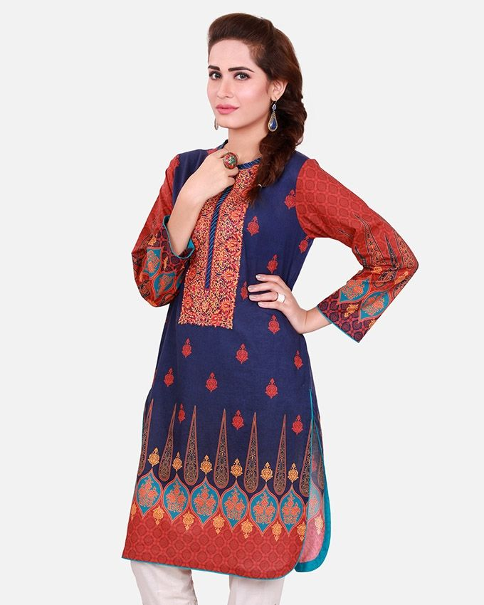 Edenrobe Purple Lawn Ladies Kurti