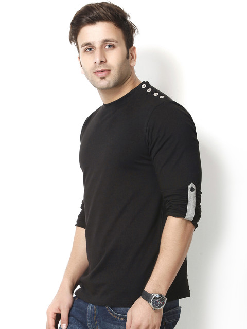 Full Sleeves Round Neck T Shirts For Mens Online