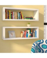 2 wall mounted shelf in white